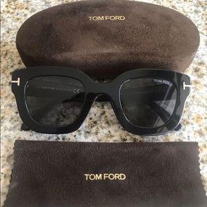 Tom Ford Women's Pia Black Square Sunglasses